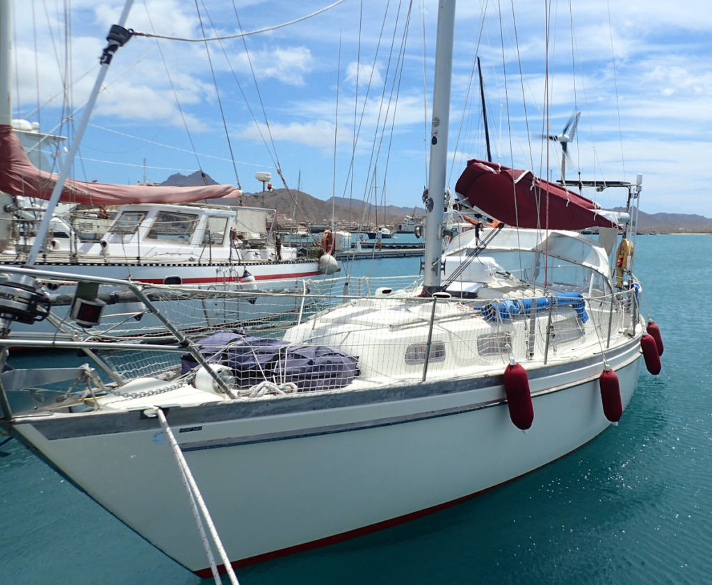 Najad 34 Yacht - Sailing Boat in Marina Mindelo